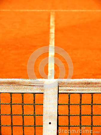Tennis court with line and net  (128)