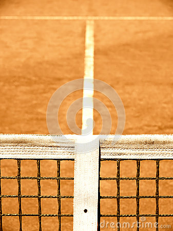 Tennis court with line and net  (125)