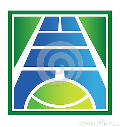 Tennis court logo