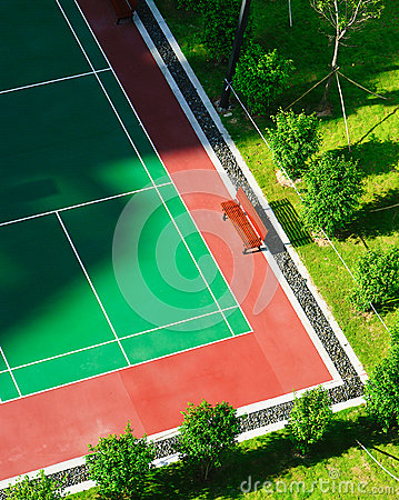 Tennis Court New Surface Outdoors