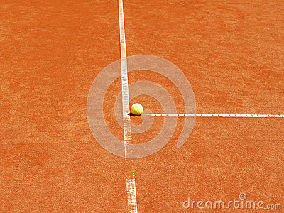 Tennis court t-line with ball (22)
