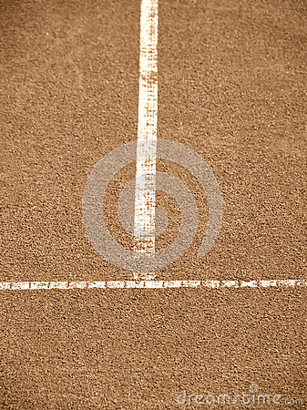 Tennis court with t-line (152)
