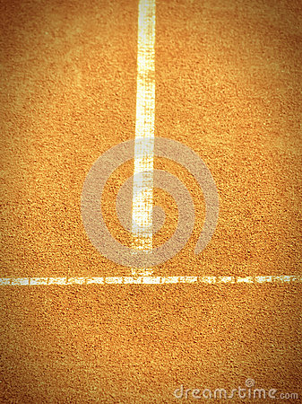 Tennis court with t-line (264)