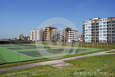 Tennis Courts on Hove seafront. UK