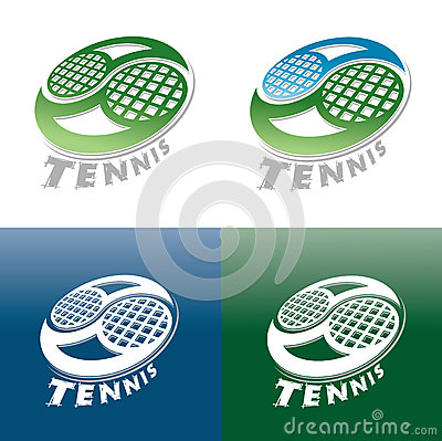 Tennis cup set of symbols