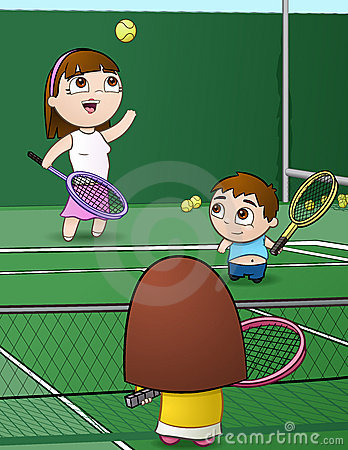 Free Tennis Family Stock Image - 14551351