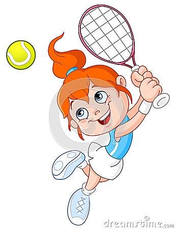 Free Tennis Girl Stock Photography - 20096022