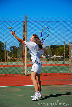 Free Tennis Girl Royalty Free Stock Photography - 4772707