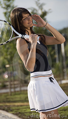 Free Tennis Girl Royalty Free Stock Photography - 6046847