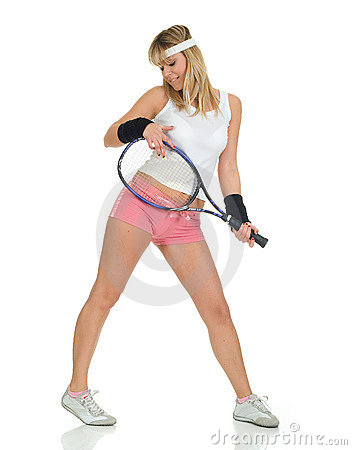 Free Tennis Girl Royalty Free Stock Photography - 8521557