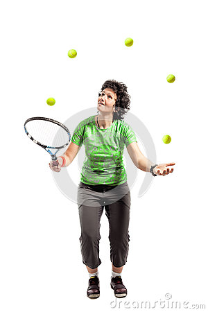 Tennis juggler