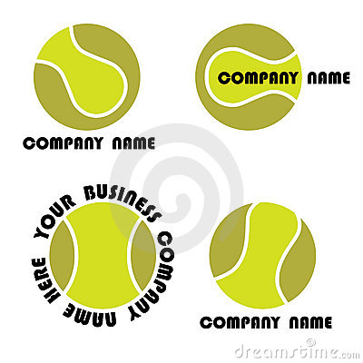 Tennis logo set