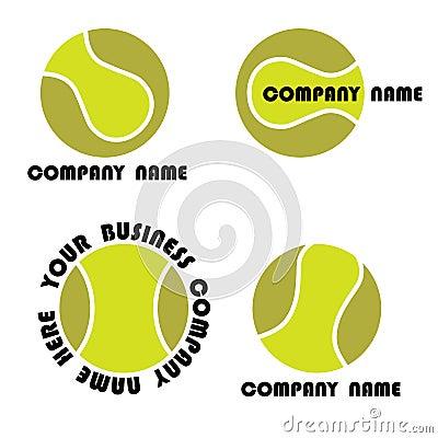 Free Tennis Logo Set Royalty Free Stock Photos - 21923968