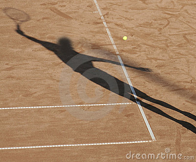 Tennis man shadow