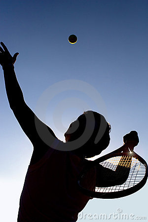 Free Tennis Player And Ball. Stock Image - 991661
