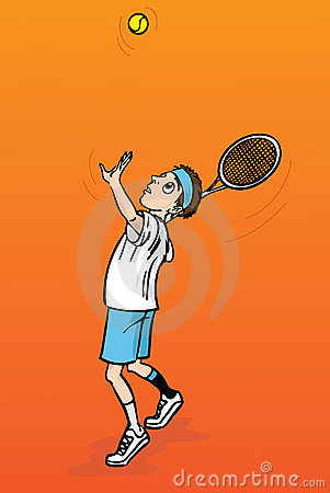Tennis player, illustration