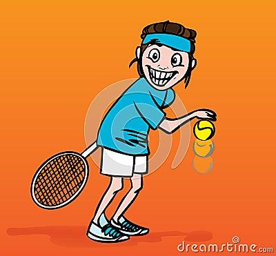 Free Tennis Player, Illustration Royalty Free Stock Photo - 4933315