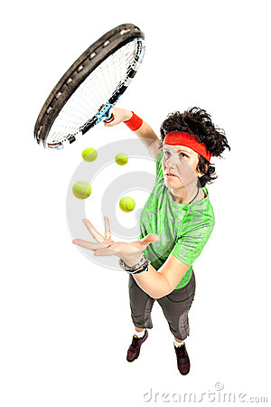Tennis player magician