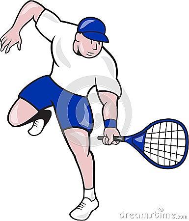 Tennis Player Racquet Cartoon