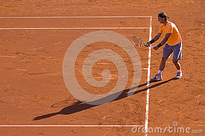 Rafa Nadal tennis player and shadow