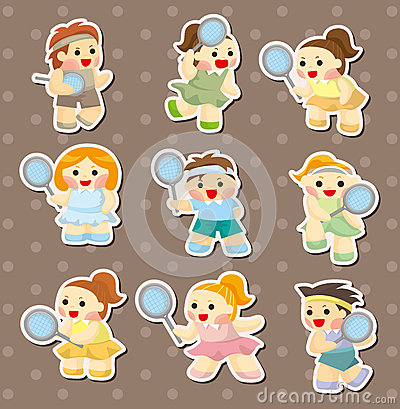 Tennis player stickers
