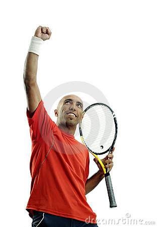 Free Tennis Player Winner Stock Photo - 19529530