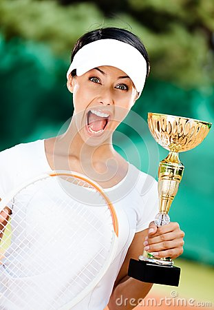 Tennis player won the competition