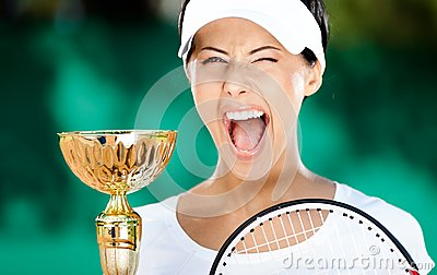 Tennis player won the match