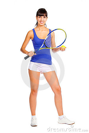 Tennis player young girl