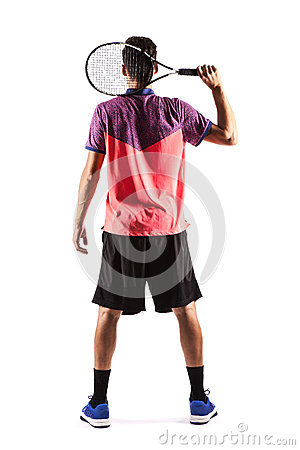 Free Tennis Players Back Rear View Stock Photo - 79795890