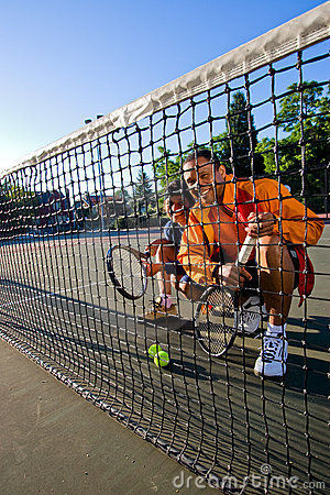 Tennis Players at the Net