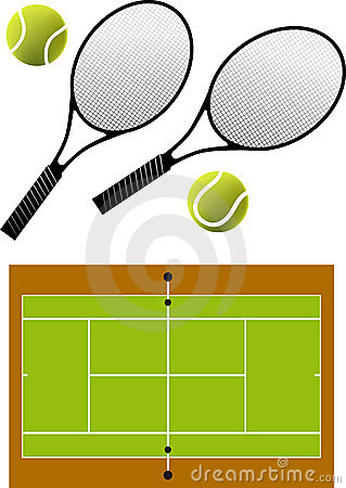 Tennis racket and balls,