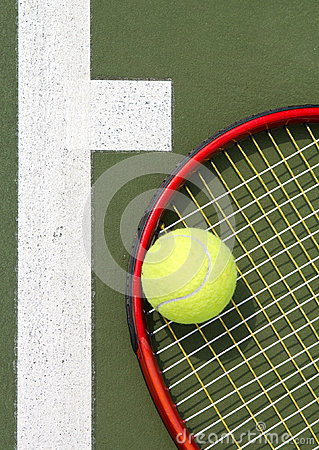 Tennis racket close up