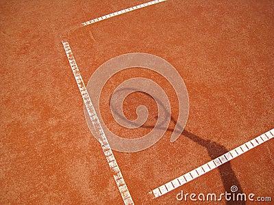 Tennis racket shadow 2