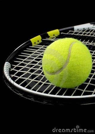 Tennis racket, tennis ball