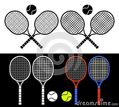 Tennis rackets.
