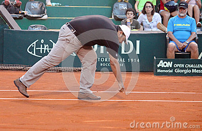 Tennis referee Editorial Photo