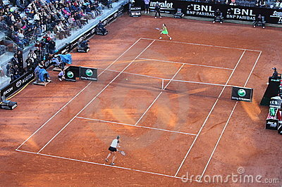 Tennis Rome ATP 2010 - Final Match Women Royalty Free Stock Images - Image: 14208519