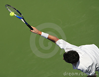 Tennis Serve Editorial Stock Image