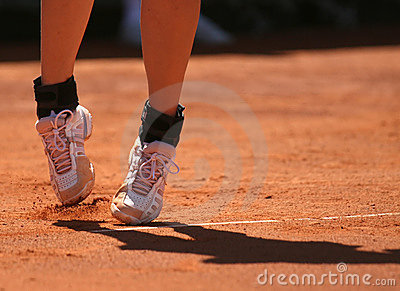 Tennis sport women legs