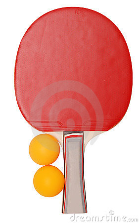 Tennis table racket and balls