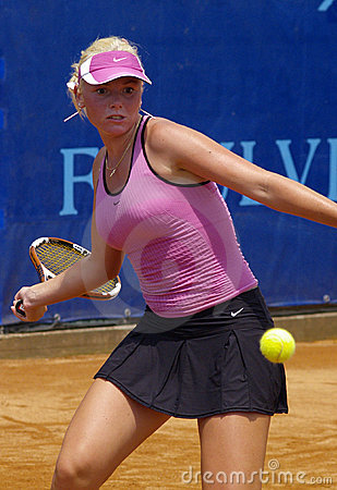 Tennis WTA tour 2007 - Tadeja Majeric (SLO) Editorial Stock Photo