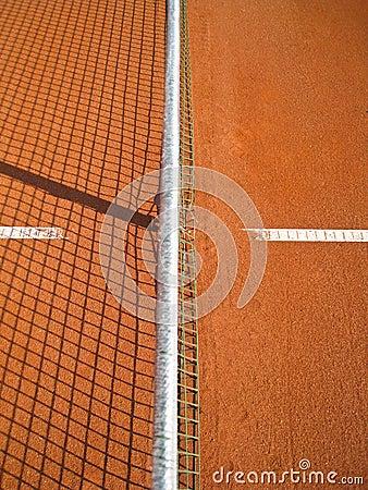 Tennisbaan met lijn (72)