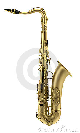 Tenor saxophone isolated on white