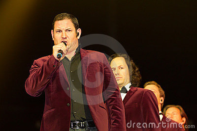 Tenors of I Quattro at Sixday-Nights Z�rich 2011 Editorial Stock Photo