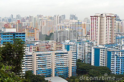Tens of building in Singapore