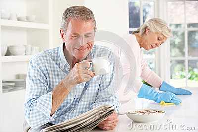 Tension between retired couple