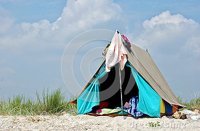 awning on the beach