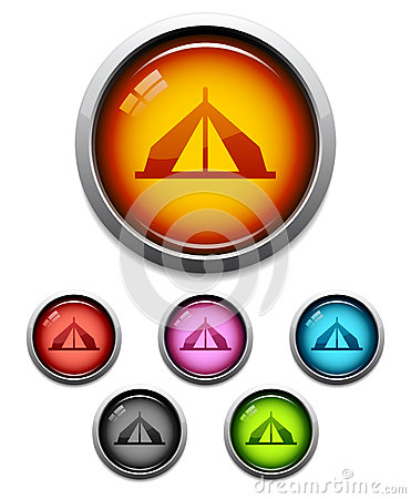 Tent button icon