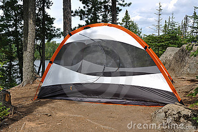 Tent at Campsite in the Wilderness